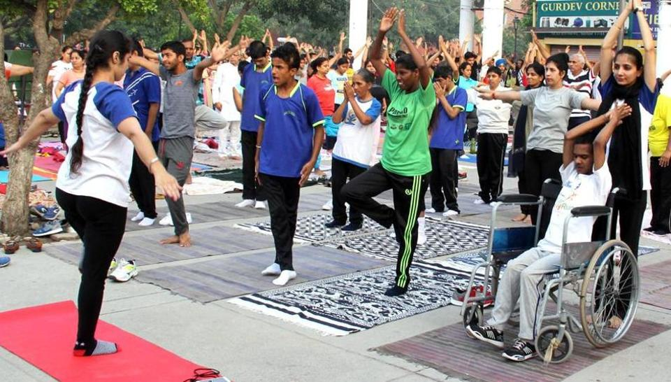 International Yoga Day,yoga,specially abled children