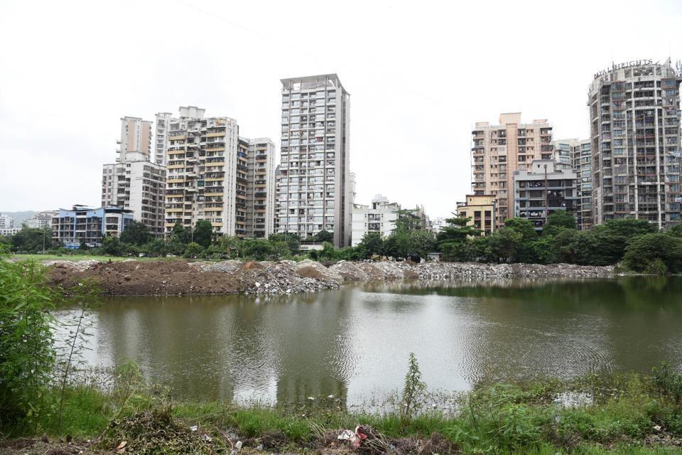 Navi Mumbai,Kharghar,pond