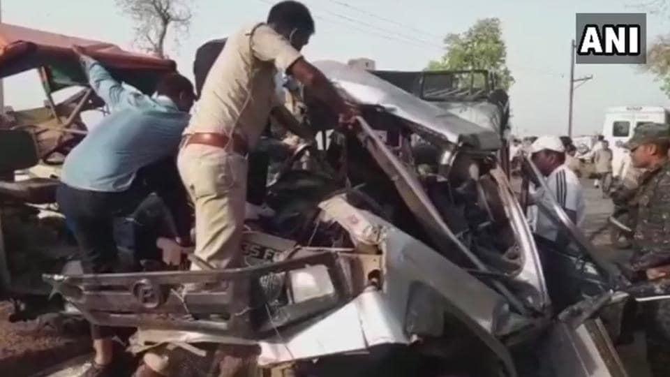 Morena,Madhya Pradesh,Road accident
