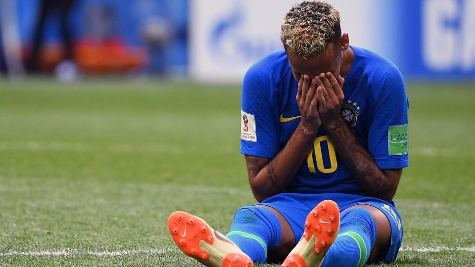Neymar squandered many good chances before scoring in stoppage time. (HT Photo/Utpaal Sorkkar)