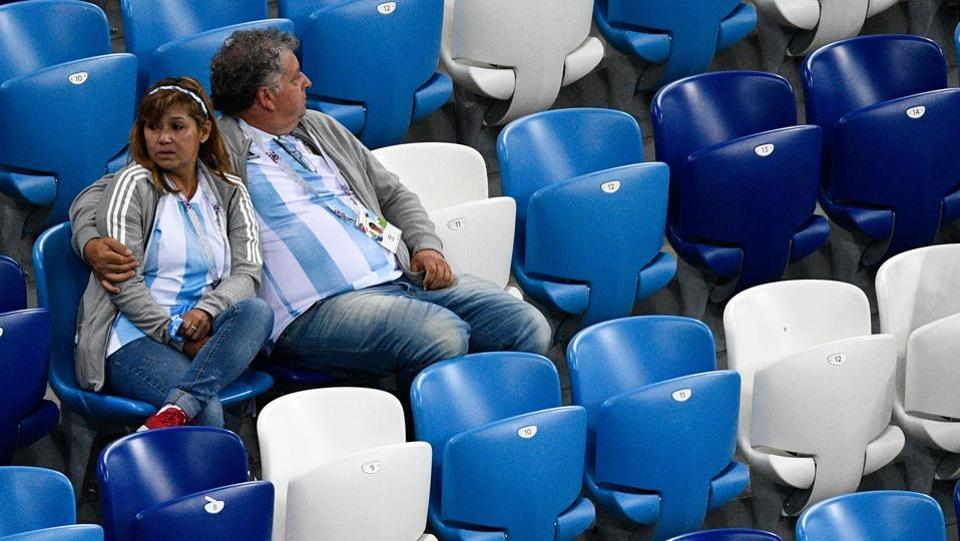 "Catastrophe against Croatia, Argentina disappoints and is on the way out of the World Cup,"" the Clarin newspaper wrote on its website. (AFP)"