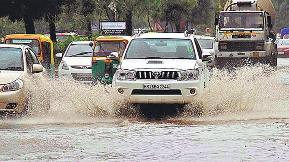 Gurugram,Waterlogging,Waterlogging in Gurugram