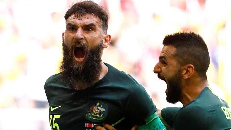 But Australia evened it out when Mile Jedinak put the ball into the back of the net. (REUTERS)