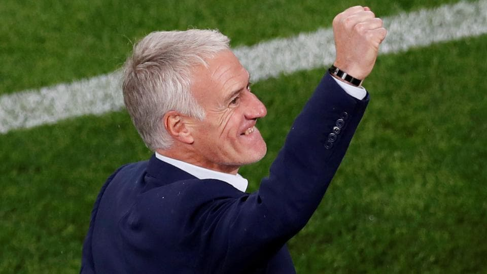 France coach Didier Deschamps was elated after his team became the third side after Russia and Uruguay to advance to the Round of 16. (REUTERS)