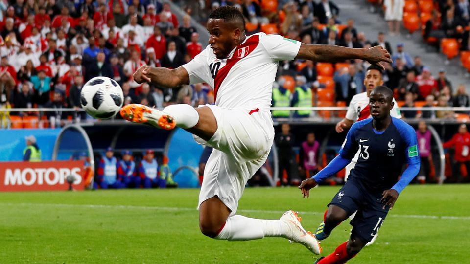 Peru tried hard but lost by the same margin of 0-1, suffered against Denmark, to France on Thursday evening. (REUTERS)