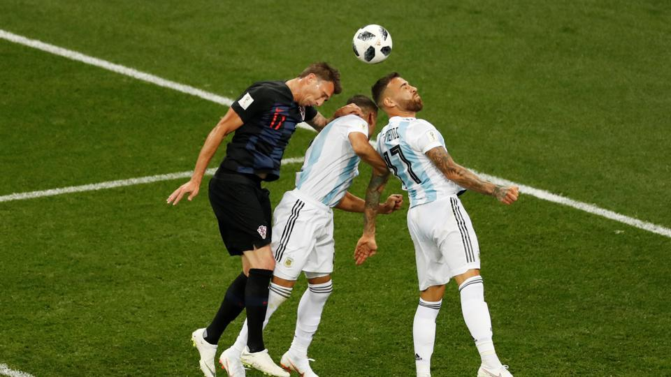 Argentina dominated possession against Croatia, a team determined to enter the next round and break their jinx against South American nations in the World Cup. (REUTERS)