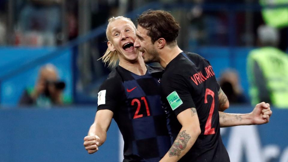 Goals from Rebic, Modric and Rakitic gave Croatia a magnificent 3-0 win as they sealed their spot in the last 16. (REUTERS)