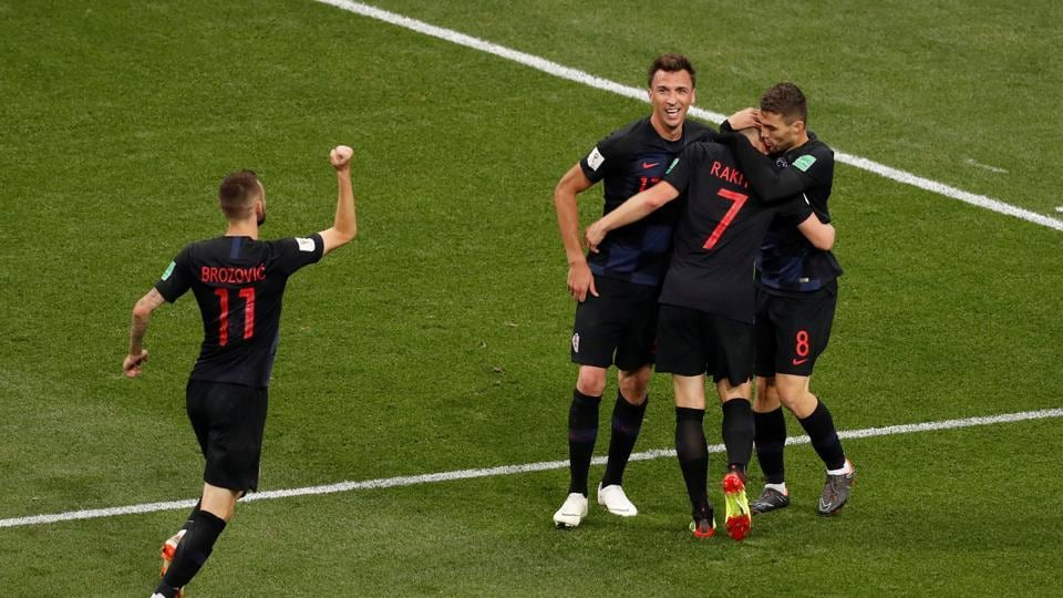 Ivan Rakitic put the game beyond doubt with a goal in the 90th minute as Croatia inched towards a famous win. (REUTERS)