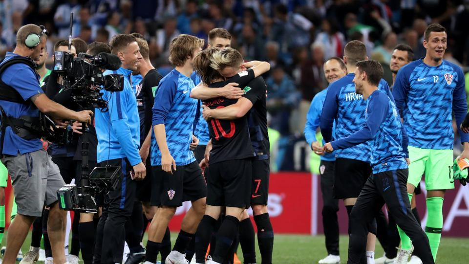 This was the first time since the 1998 edition in France that Croatia had entered the last 16 of the tournament.  (REUTERS)