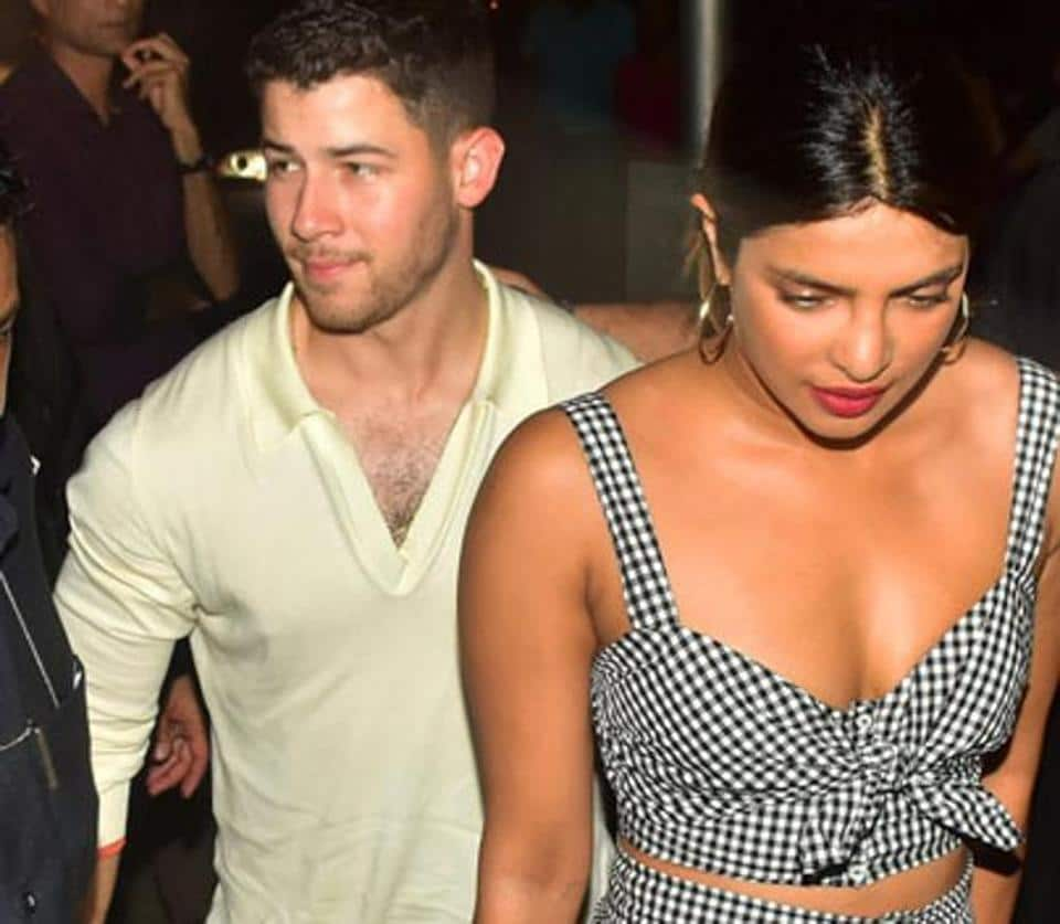 Image result for Priyanka Chopra and Nick Jonas do Coordinated Style for Date Night
