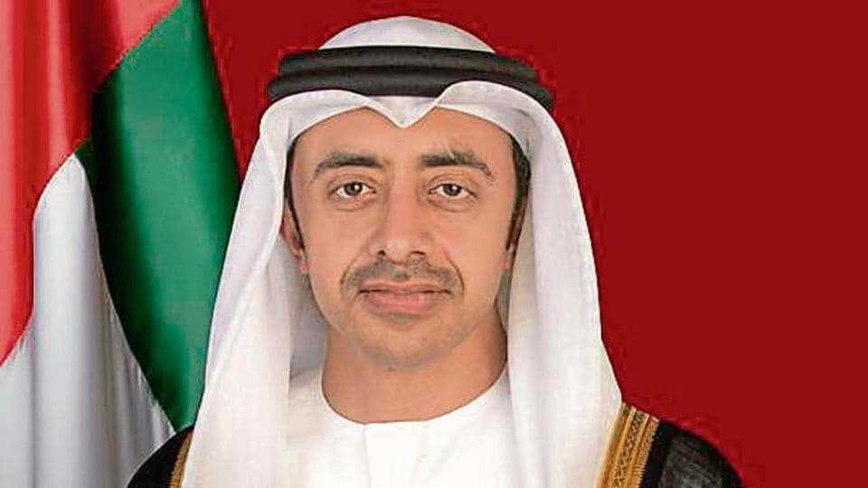 UAE foreign minister Sheikh Abdullah bin Zayed Al Nahyan.