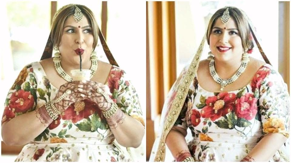 This curvy bride's gorgeous Sabyasachi lehenga not only fits her body beautifully, but also flatters it. (Instagram)