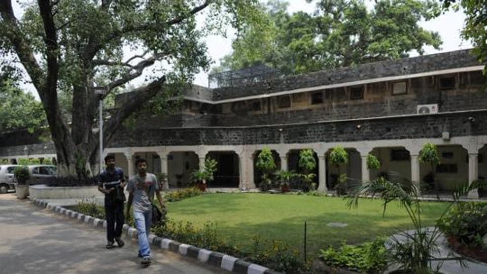 The Ambedkar University at Kashmiri Gate in New Delhi,India.