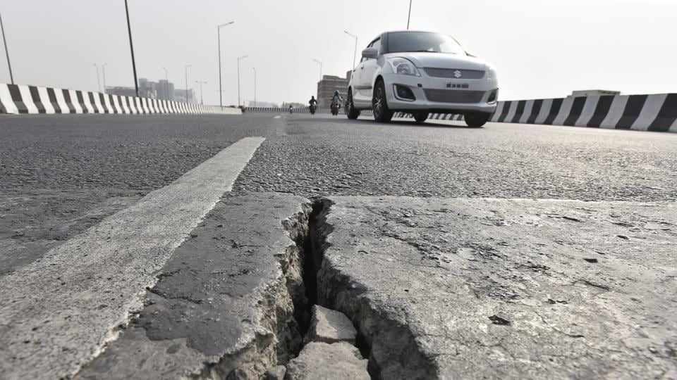 Potholed roads leave Gurugram vulnerable to flooding
