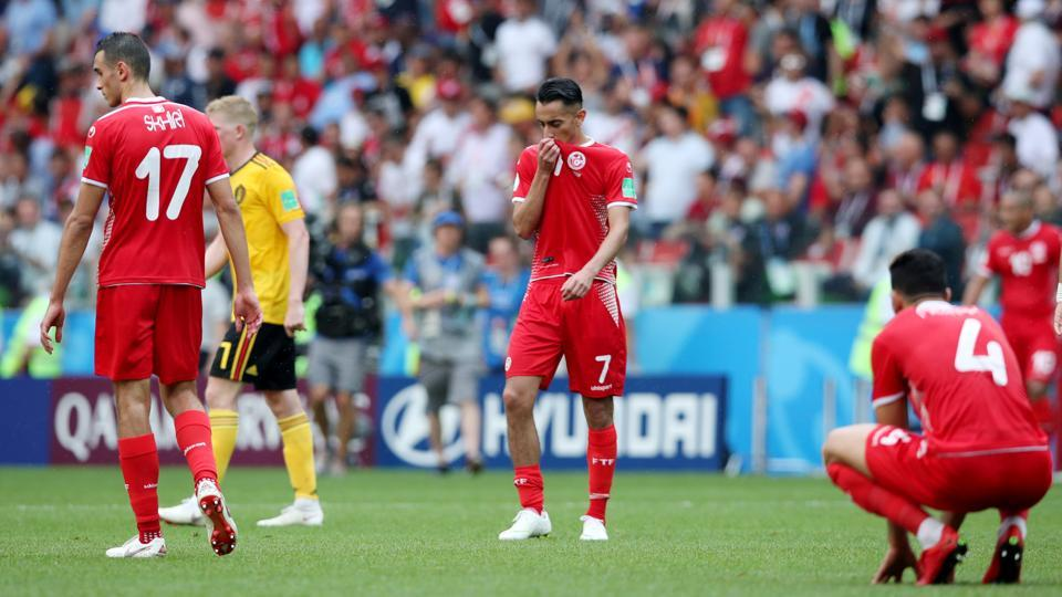 The win has almost knocked Tunisia out of the competition while for Belgium, they are all but through to the next round.  (REUTERS)