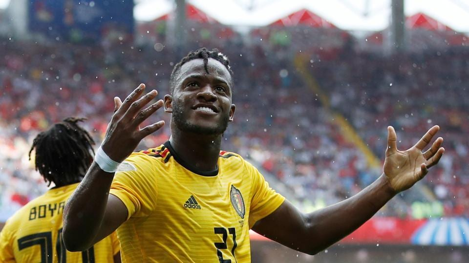 Michy Batshuayi had three chances of scoring a goal but he missed.  (REUTERS)