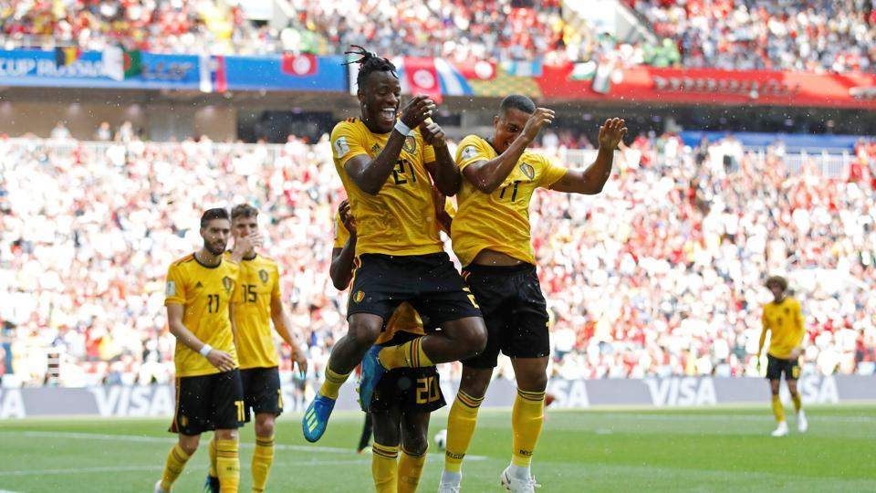 However, Michy Batshuayi finally found the back of the net as Belgium secured a 5-2 win to put them one step closer to the next round.  (REUTERS)