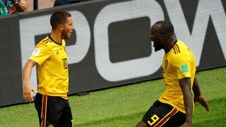 The efforts by Lukaku and Hazard put Belgium on course for a big win. (REUTERS)