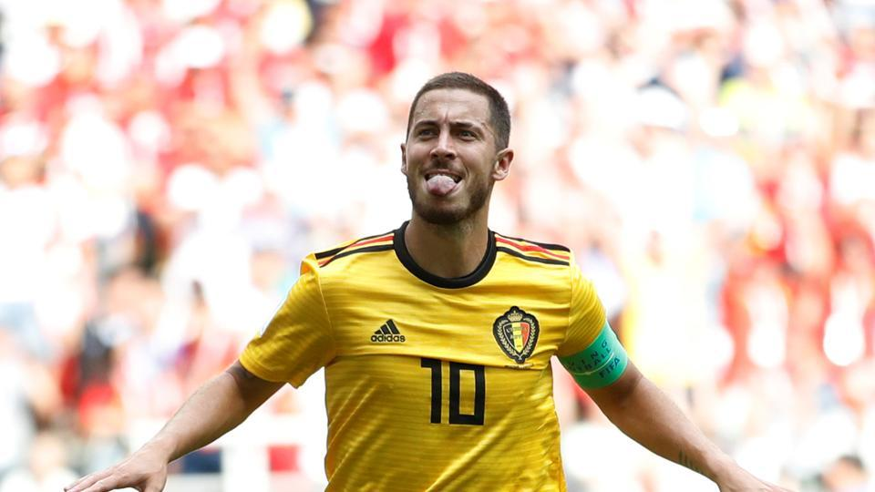 Eden Hazard gave Belgium a great start as he converted a penalty in the sixth minute to put Belgium ahead. (REUTERS)