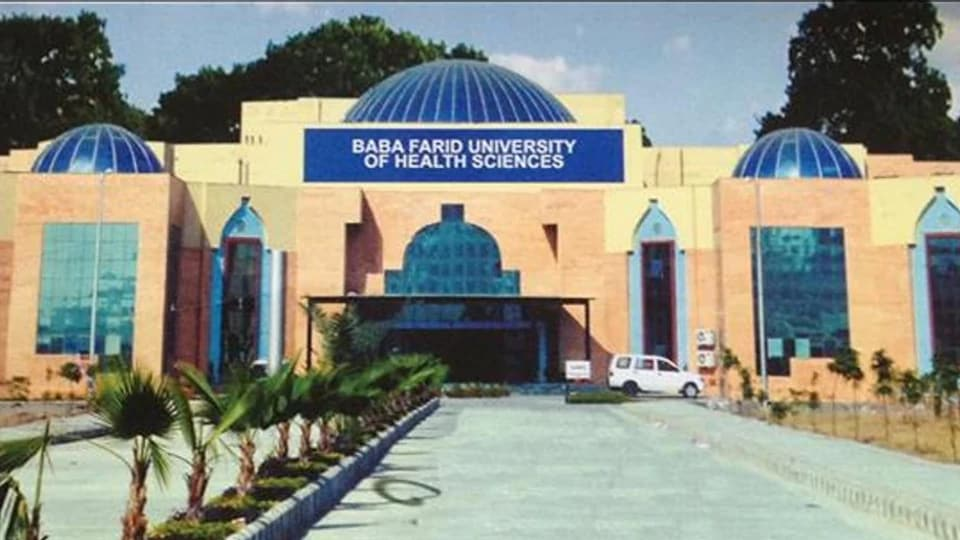 MBBS fee capping,BFUHS,baba Farid University of Health Sciences