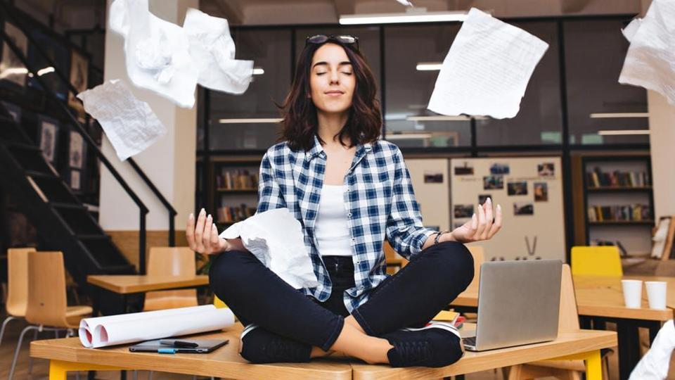 Just 15 minutes of quiet reflection, whether through meditation or even looking out the window will help you take a step towards achieving mental wellness and relaxation.