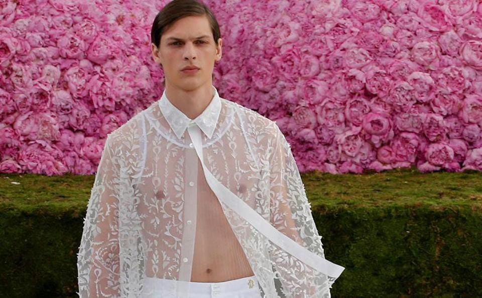 At Paris Fashion Week Men Wore Florals Sheer And Pink And Looked