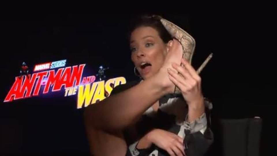 Evangeline Lilly,Evangeline Lilly Heels,Ant-Man and the Wasp