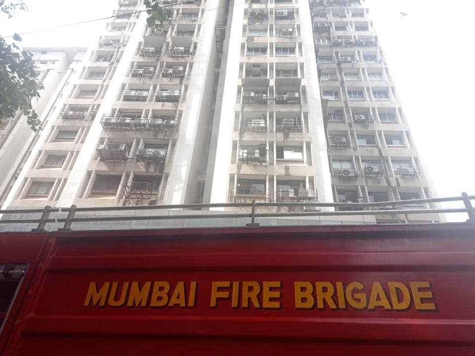 Fire started on the second floor of Mittal Court on Tuesday.