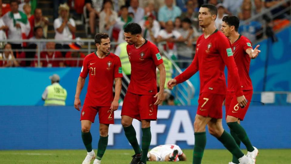 Portugal registered a 1-1 draw vs Iran in their Group B FIFAWorld Cup 2018 match at the Mordovia Arena, Saransk, Russia on June 25, 2018 to qualify for the round of 16.  (REUTERS)