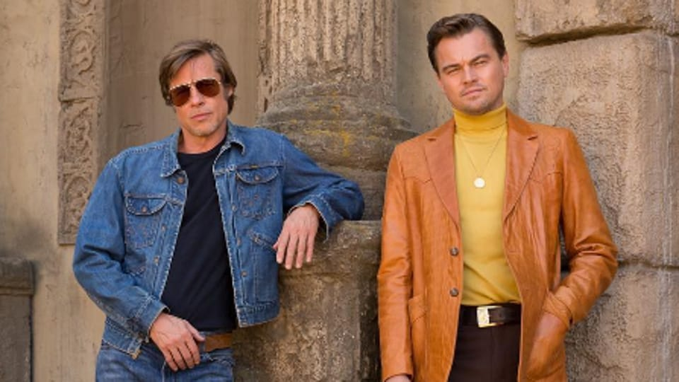 The first look image unites both Leonardo DiCaprio and Brad Pitt with Tarantino, who has directed them in Django Unchained and Inglourious Basterds respectively.
