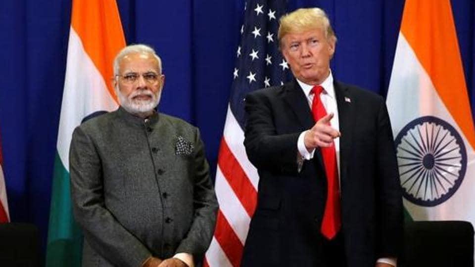 Afile photo of US President Donald Trump with India's Prime Minister Narendra Modi in Manila, Philippines November 13, 2017.