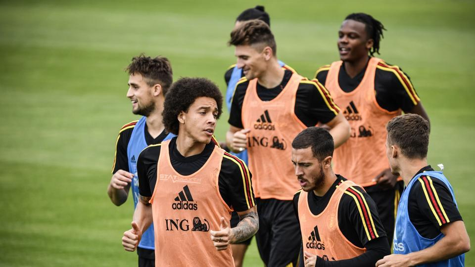 Belgium (in pic) will take on England in their last group game of FIFA World Cup 2018 in Kaliningrad on Thursday.