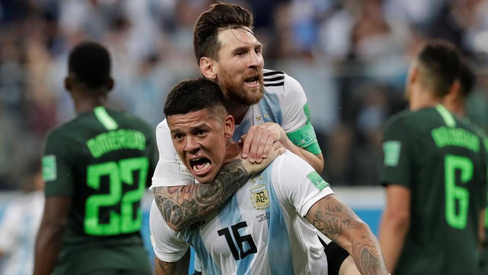 Argentina defeated Nigeria in their FIFAWorld Cup 2018 encounter on Tuesday. (REUTERS)