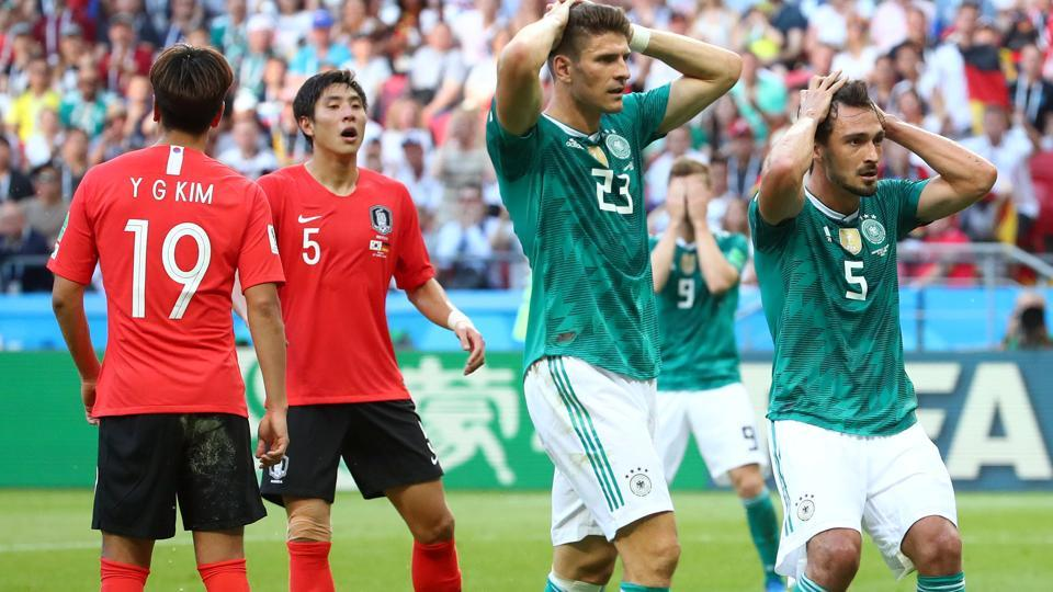 Germany crashed out of FIFAWorld Cup 2018 after losing to South Korea on Wednesday. (REUTERS)