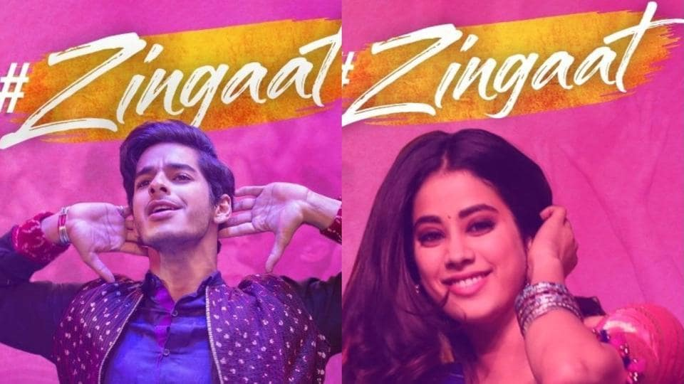 Janhvi Kapoor and Ishaan Khatter practice their moves for Zingaat.
