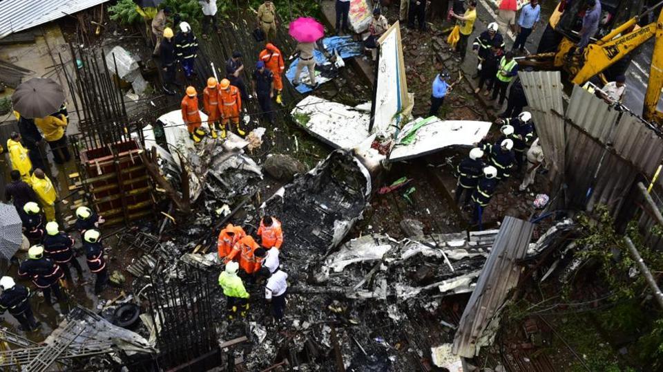 Mumbai plane crash,Ghatkopar plane crash,Construction site