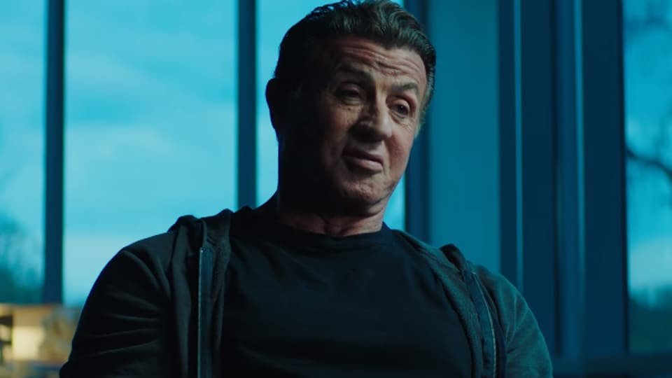 Look at how excited Sylvester Stallone is.