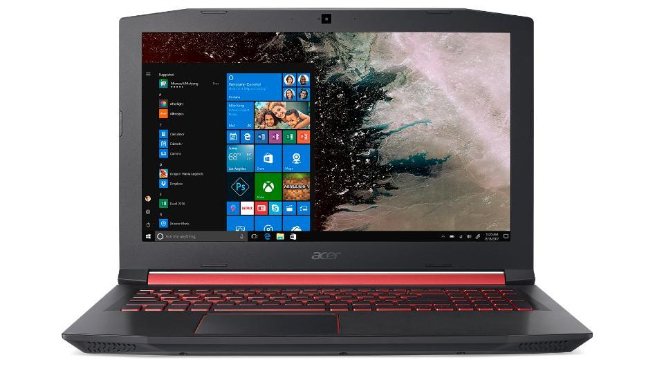 Acer Nitro 5 features a 15.6-inch Full HD IPS display and a front-facing HD web camera.