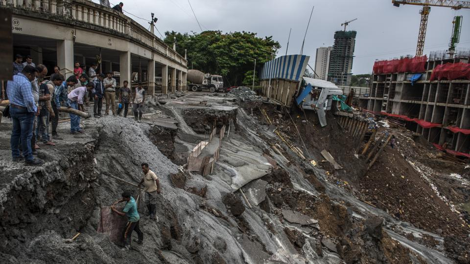 BMC,Wadala,mumbai cave-in