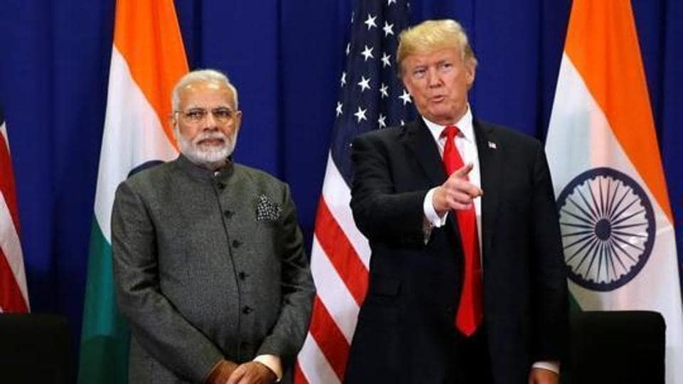 US president Donald Trump with Prime Minister Narendra Modi in Philippines in November 2017.