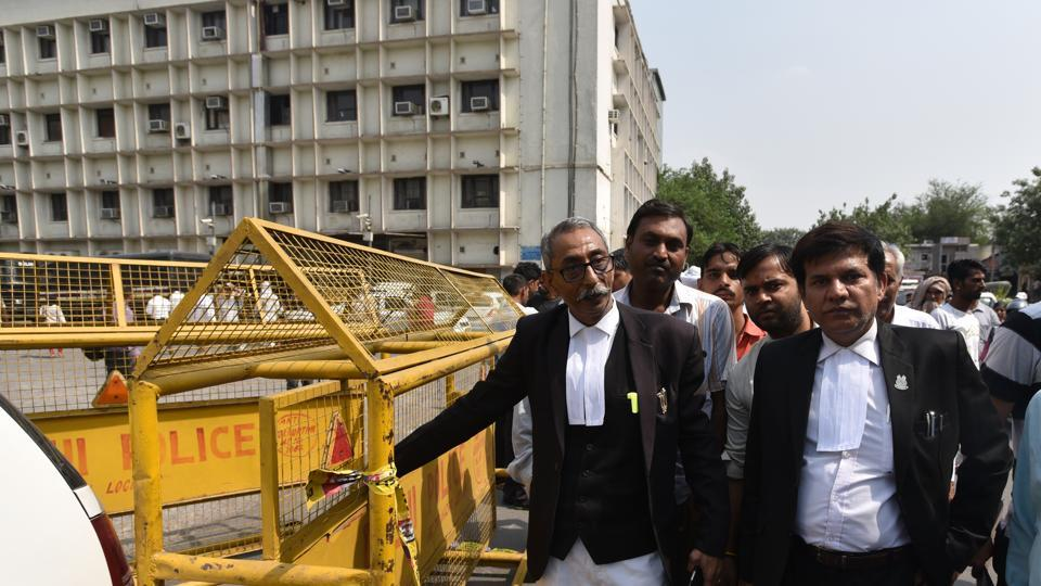 The Tis Hazari court in New Delhi in May 2018. A man was arrested after assaulting his family during court proceedings. (Photo is representative.)