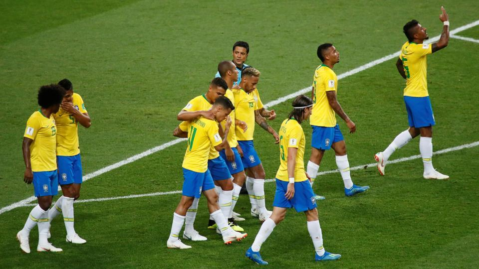 Paulinho's goals cheered Brazilian fans. (REUTERS)