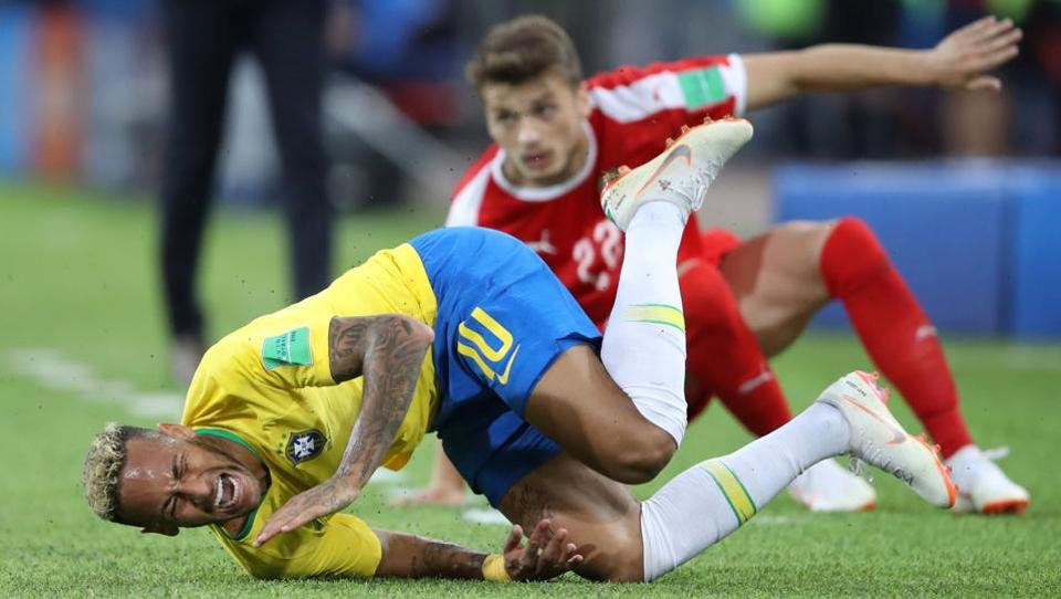 Brazil's Neymar had many a rough tackles targeting him. (REUTERS)