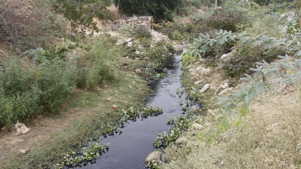 Construction work has reduced the size of Gurugram's Ghata jeel and supporting waterways, putting strain on the environment and increasing risk of flooding.