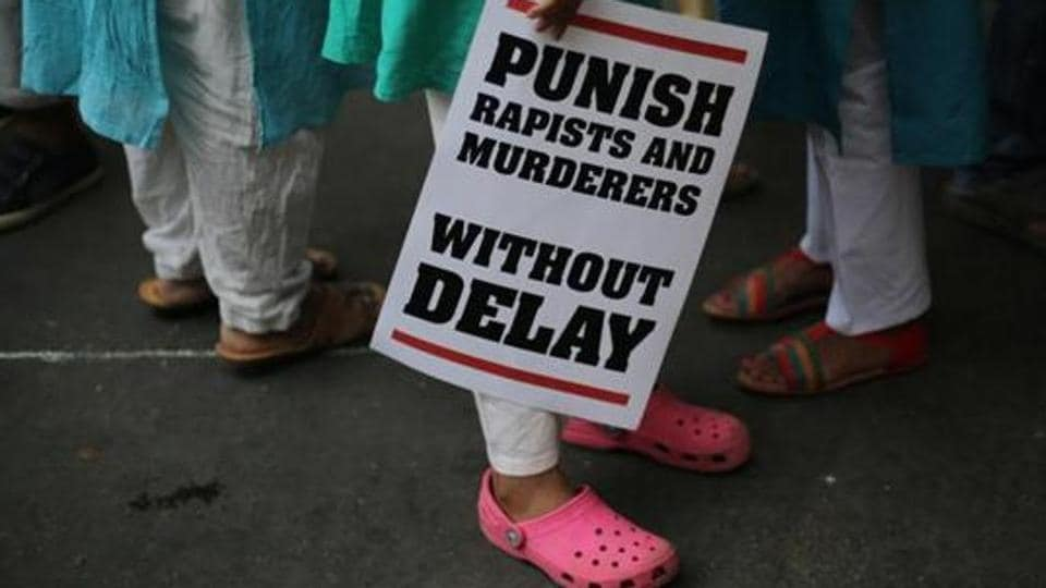 Protesters take out a rally against the rising number of rapes across the country.