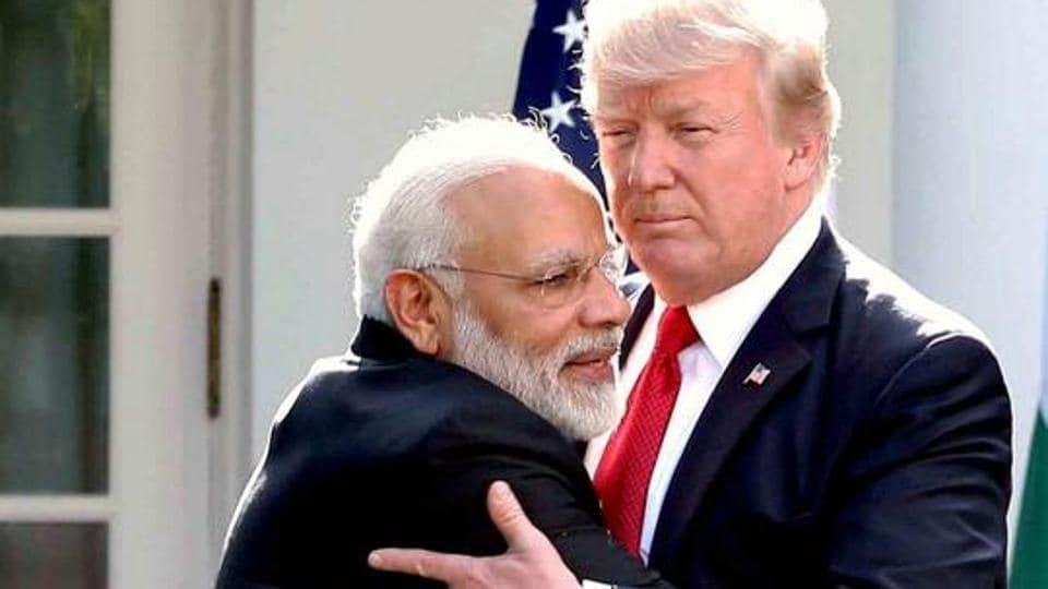 Prime Minister Narendra Modi meet USPresident Donald Trump at the White House in Washington DC.