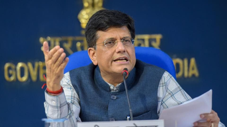 Union finance minister Piyush Goya said that the government will get all data on black money or illegal transaction from Switzerland by the end of fiscal 2019. His statement comes a day after Switzerland released data showing money parked by Indians in Swiss banks rose over 50% to 1.01 billion CHF (Rs 7,000 crore) in 2017, reversing a three-year downward trend. (Vijay Verma / PTI File)