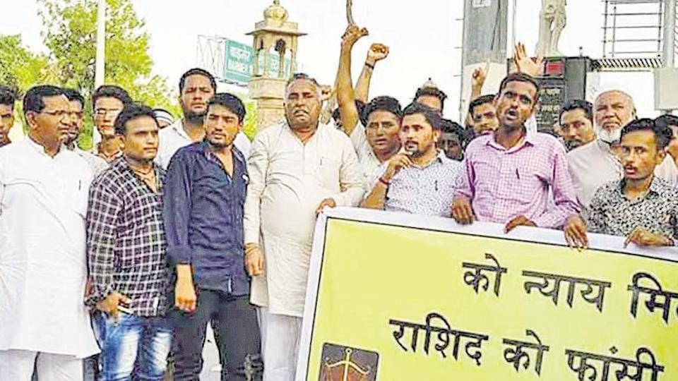 Protests seeking justice for the victim are on in Barmer.