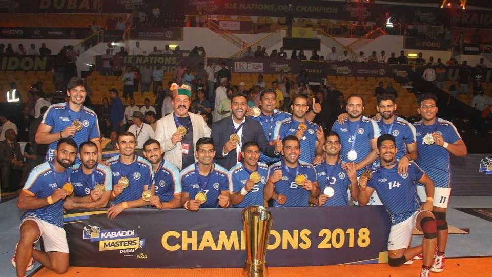 India won the Kabaddi Masters final against Iran 44-26.
