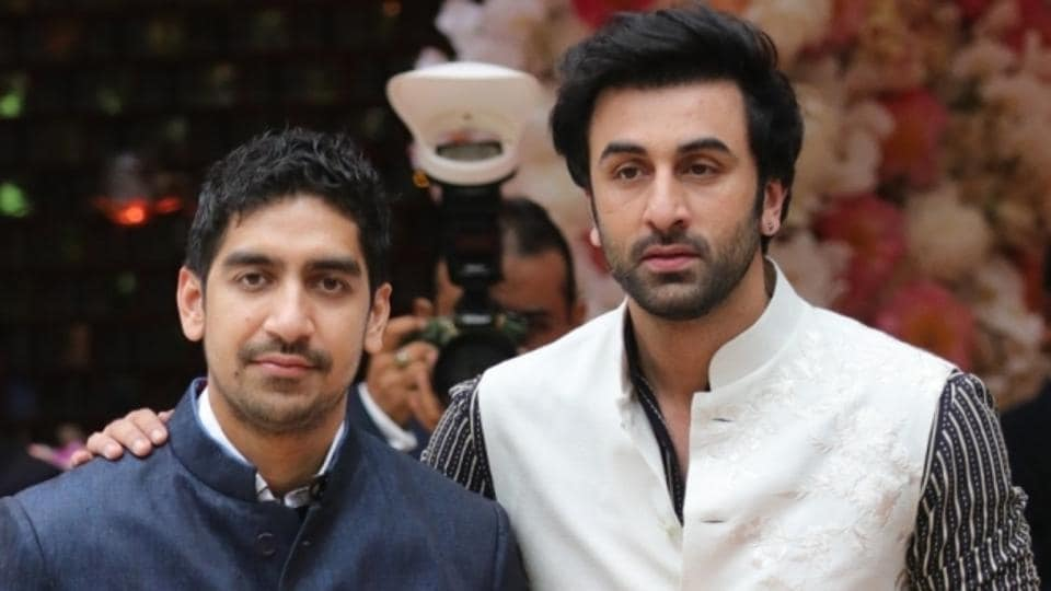 Ayan Mukherjee and actor Ranbir Kapoor during pre-engagement party of Akash Ambani and Shloka Mehta at Antilia in Mumbai on June 28, 2018.